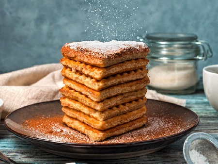 Смес / тесто за гофрети с кисело мляко и бакпулвер - снимка на рецептата